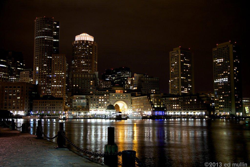 Boston Harbor @ night